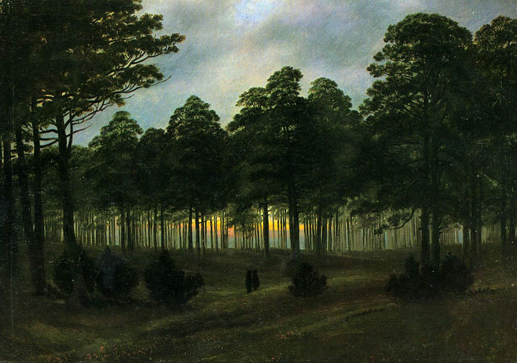 Caspar David Friedrich, 'The Evening' - The Culturium