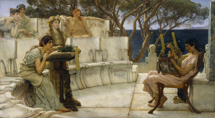 Lawrence Alma-Tadema, 'Sappho and Alcaeus' - The Culturium