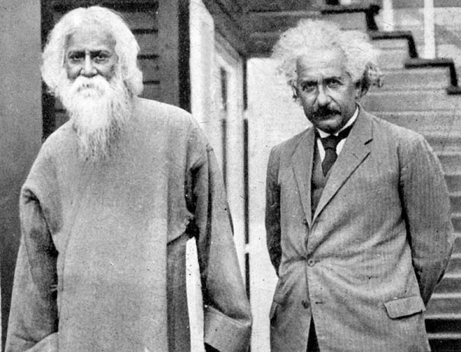 'Rabindranath Tagore and Albert Einstein' - The Culturium