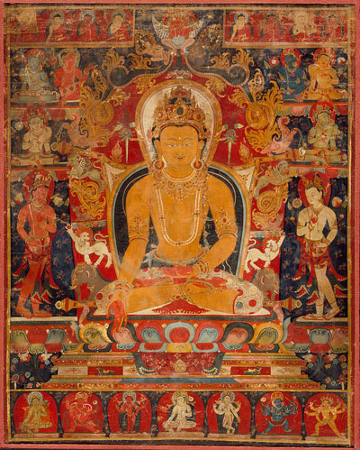 'Thangka with the Jina Buddha Ratnasambhava' - The Culturium