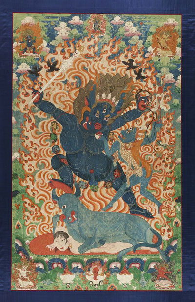 'Thangka with Yama and Yami' - The Culturium