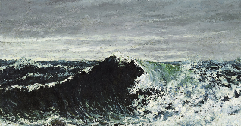 Gustave Courbet, The Wave - The Culturium
