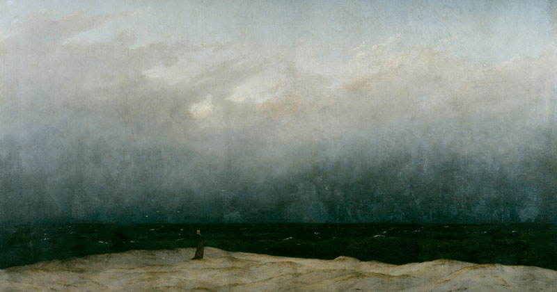Caspar David Friedrich, The Monk by the Sea - The Culturium