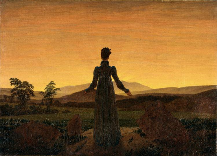 Caspar David Friedrich, Woman Before the Rising Sun - The Culturium
