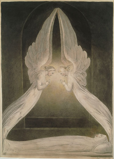 William Blake, Christ in the Sepulchre, Guarded by Angels - The Culturium