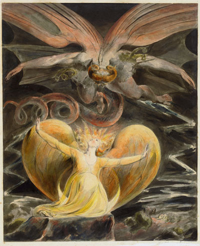 William Blake, The Great Red Dragon and the Woman Clothed in the Sun - The Culturium
