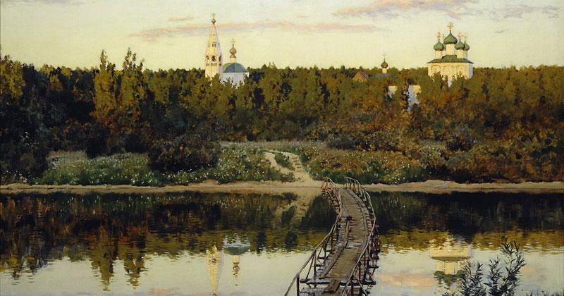 Isaac Levitan, A Quiet Monastery - The Culturium