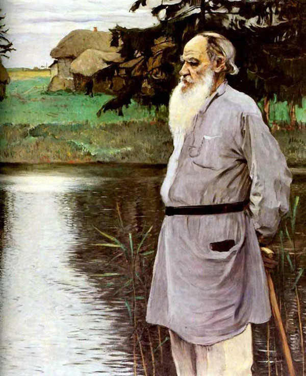 Mikhail Nesterov, Portrait of Leo Tolstoy - The Culturium