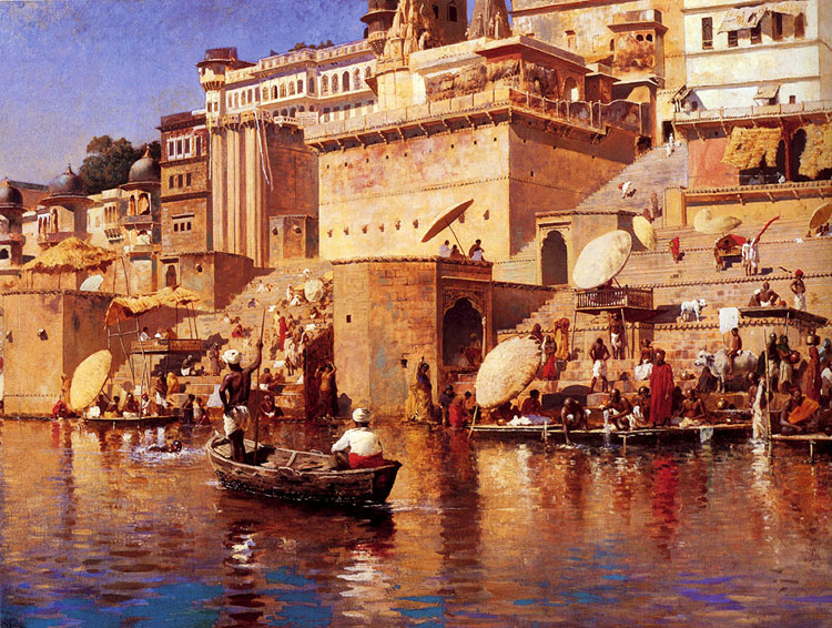 Edwin Lord Weeks, On the River, Benares - The Culturium