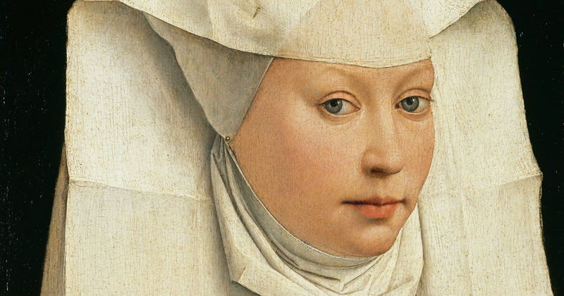 Rogier van der Weyden, Portrait of a Woman With a Winged Bonnet - The Culturium