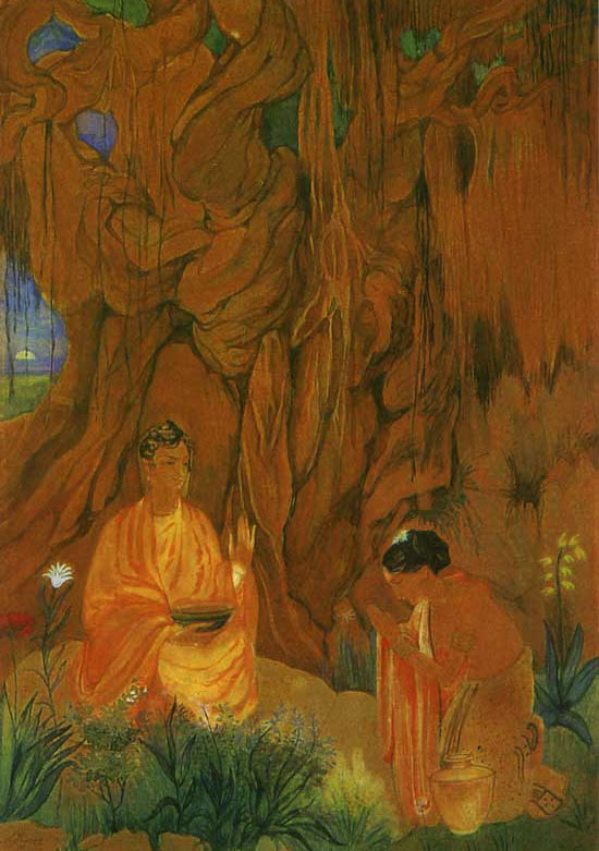 Abanindranath Tagore, Buddha and Sujata - The Culturium
