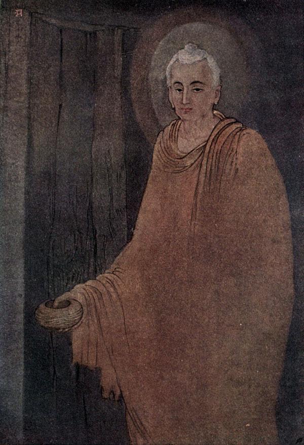 Abanindranath Tagore, Buddha as Mendicant - The Culturium