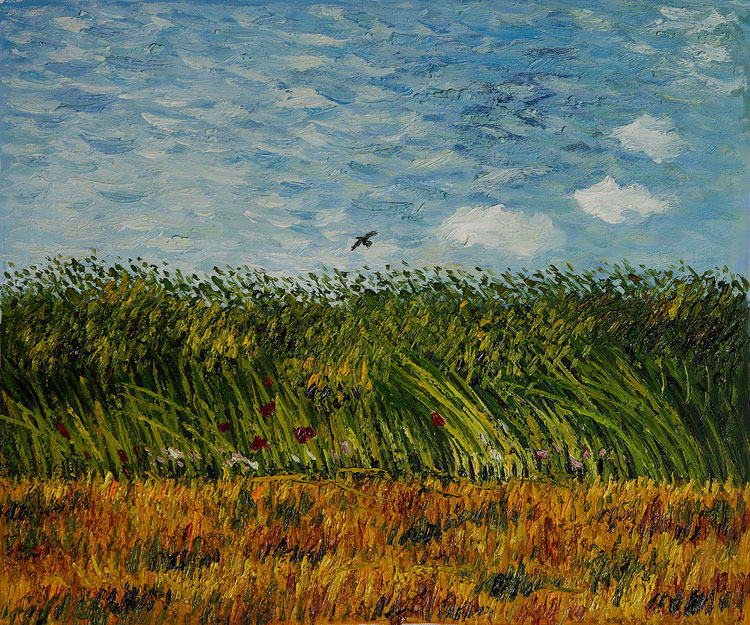 Vincent van Gogh, Wheat Field with Poppies and a Lark - The Culturium