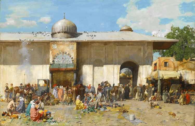 Alberto Pasini, A Market Scene - The Culturium