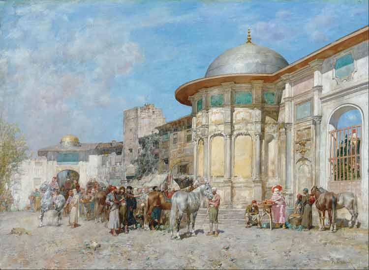 Alberto Pasini, Horse Market Syria - The Culturium