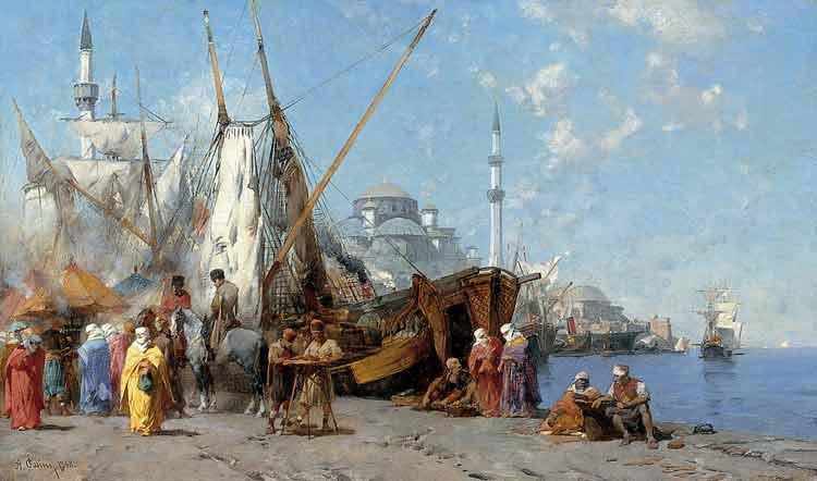 Alberto Pasini, Market in Istanbul - The Culturium
