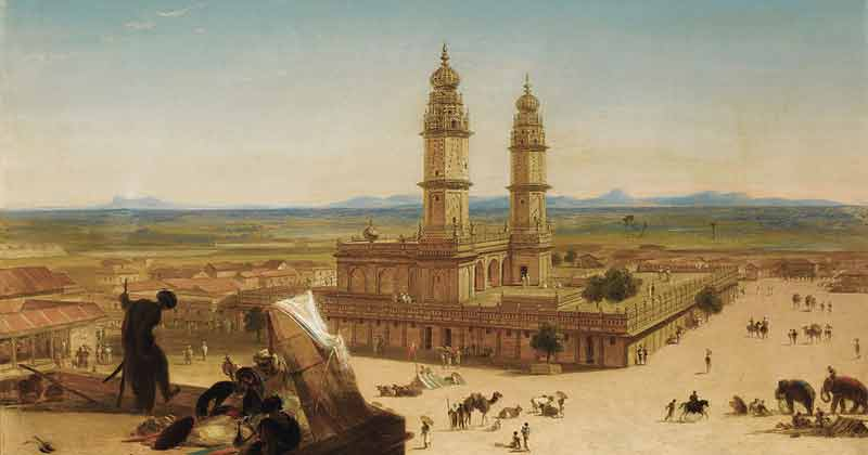 Alberto Pasini, Oriental Landscape with Mosque - The Culturium