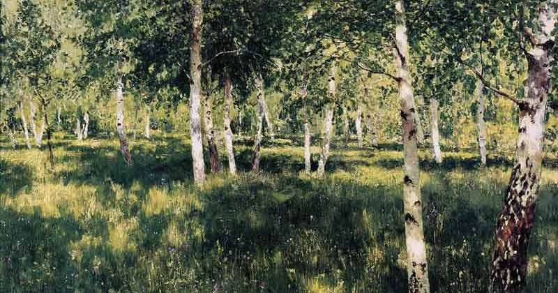 Isaac Levitan, Birch Grove - The Culturium