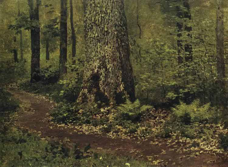 Isaac Levitan, Footpath in a Forest. Ferns - The Culturium