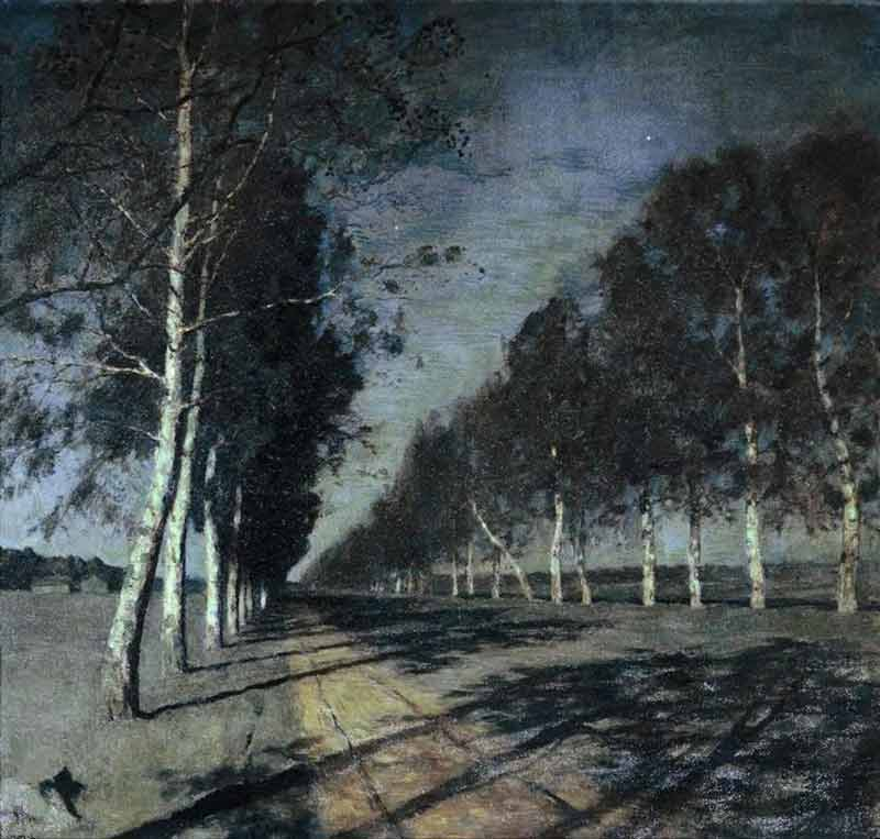 Isaac Levitan, Moonlit Night. A Village - The Culturium