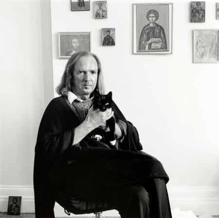 George Newson, John Tavener With Cat, April 1992 British Composer - The Culturium