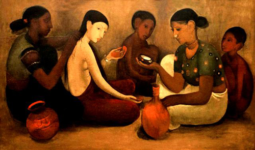 Amrita Sher-Gil, Bride's Toilet - The Culturium