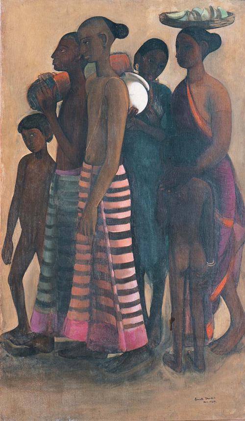 Amrita Sher-Gil, South Indian Villagers Going to a Market - The Culturium