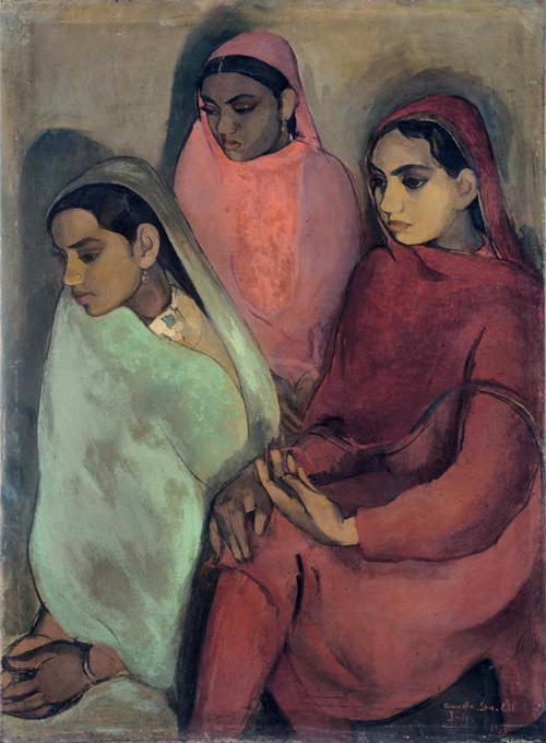 Amrita Sher-Gil, Three Girls - The Culturium