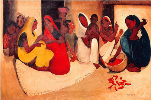 Amrita Sher-Gil, Village Scene - The Culturium