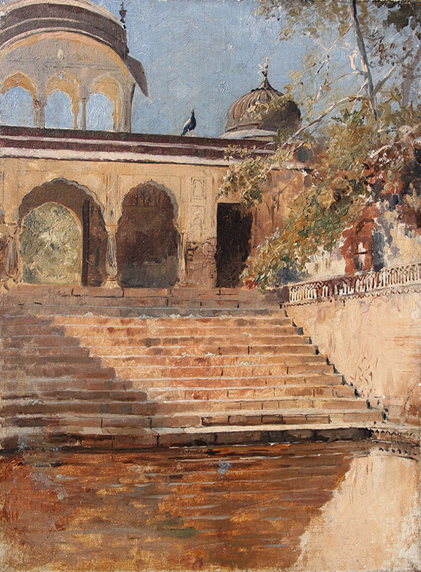 Edwin Lord Weeks, Steps in Sunlight, India - The Culturium