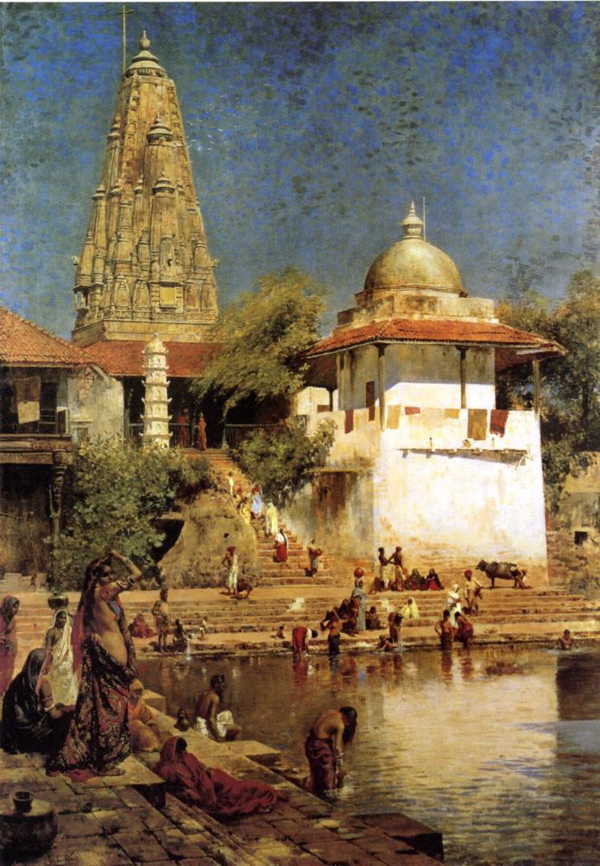 Edwin Lord Weeks, The Temples and Tank of Walkeshwar at Bombay - The Culturium