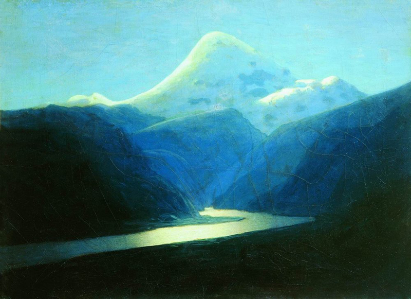 Arkhip Kuindzhi, Elbrus in the Evening - The Culturium