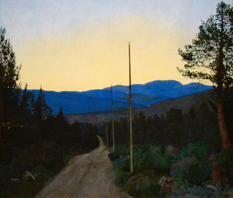 Harald Sohlberg, Country Road - The Culturium