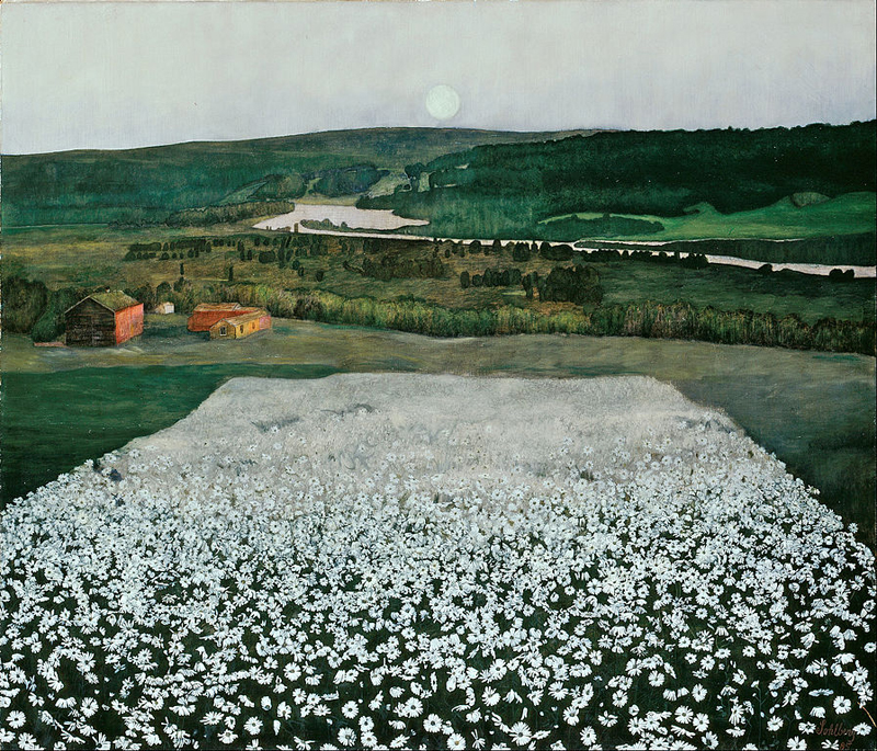 Harald Sohlberg, Flower Meadow in the North - The Culturium