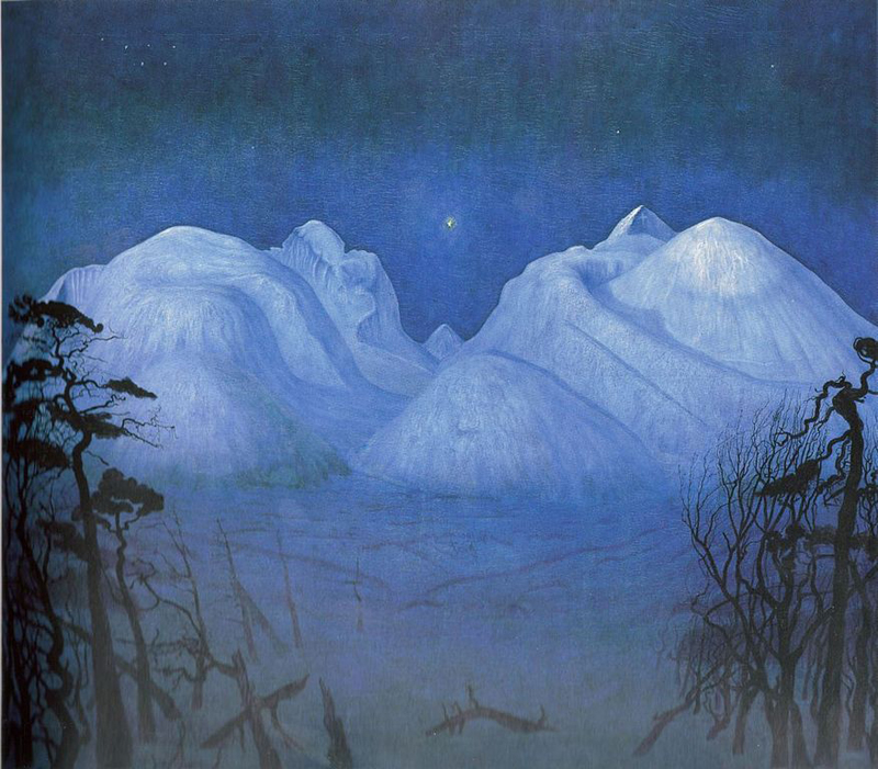 Harald Sohlberg, Winter Night in the Mountains - The Culturium