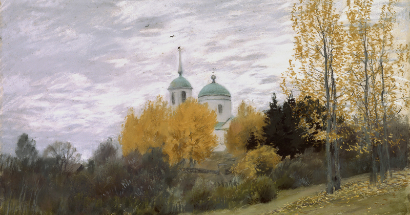Isaac Levitan, Autumn Landscape With a Church - The Culturium