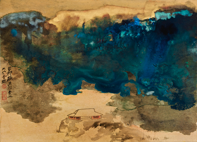 Zhang Daqian, Evening Glow on the Winter Pond - The Culturium