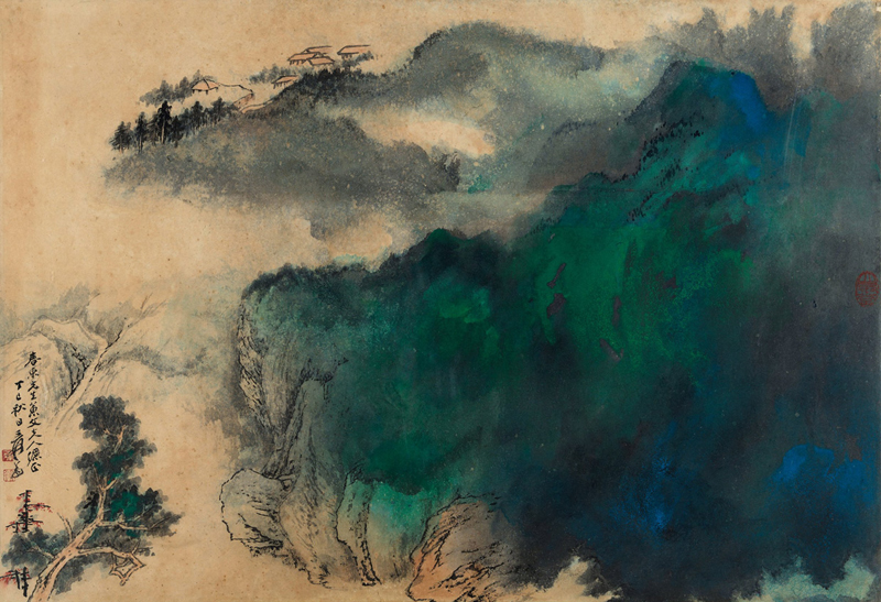 Zhang Daqian, Landscape in Splashed Colours - The Culturium