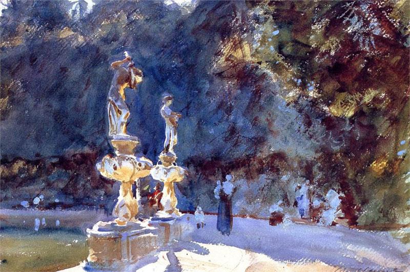 John Singer Sargent, Florence Fountain, Boboli Gardens - The Culturium