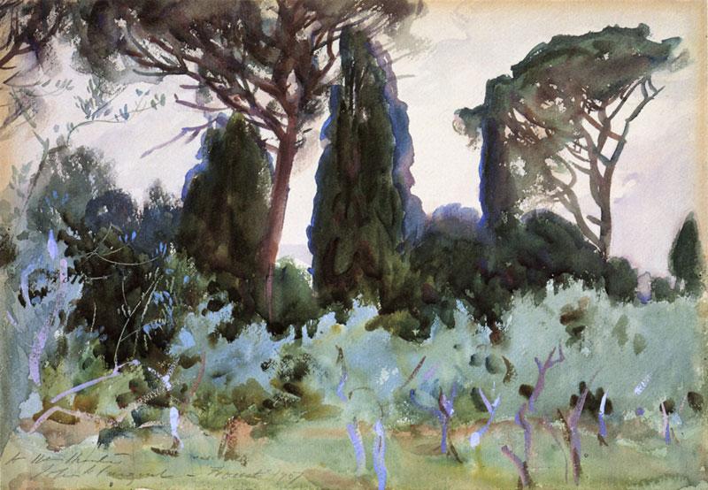 John Singer Sargent, Landscape Near Florence - The Culturium