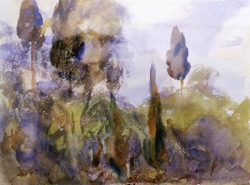John Singer Sargent, Olive and Cypress - The Culturium