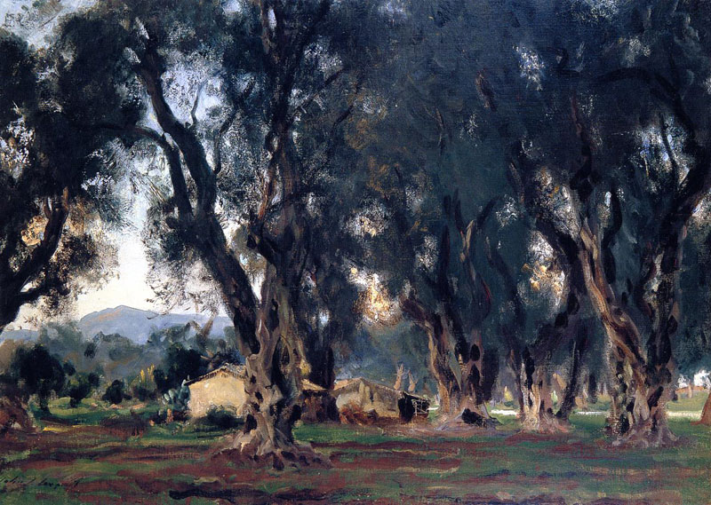 John Singer Sargent, Olive Trees at Corfu - The Culturium