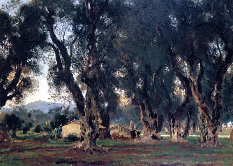John Singer Sargent, Olive Trees at Corfu - The Culturium