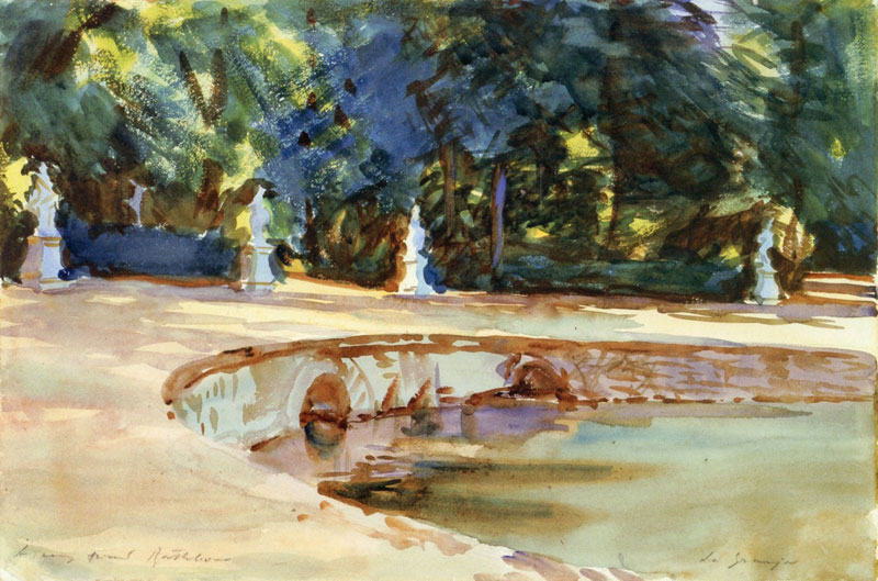John Singer Sargent, Pool in the Garden of La Granja - The Culturium