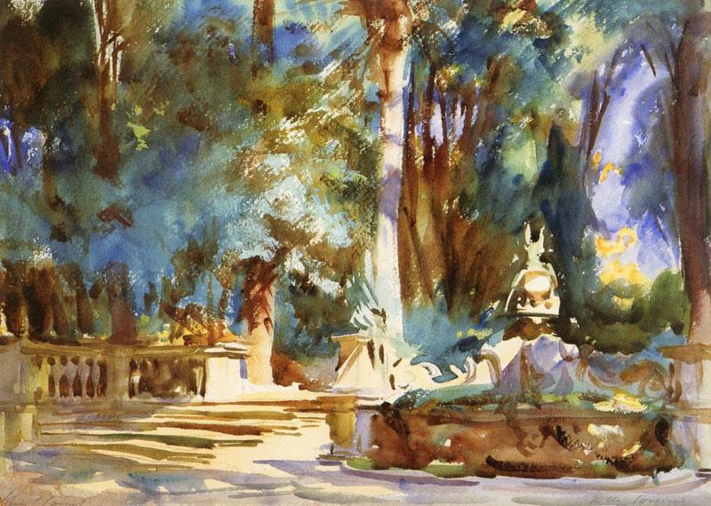 John Singer Sargent, Villa Corsini, Near Florence - The Culturium