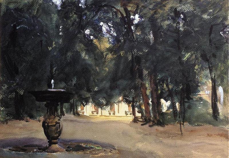 John Singer Sargent, Villa Torlonia, Fountain - The Culturium