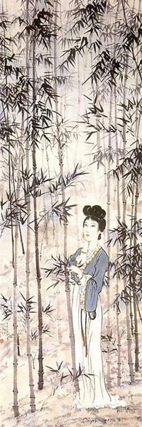 Xu Beihong, A Lady Amongst the Bamboo - The Culturium
