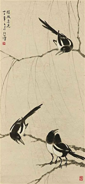Xu Beihong, Magpies - The Culturium