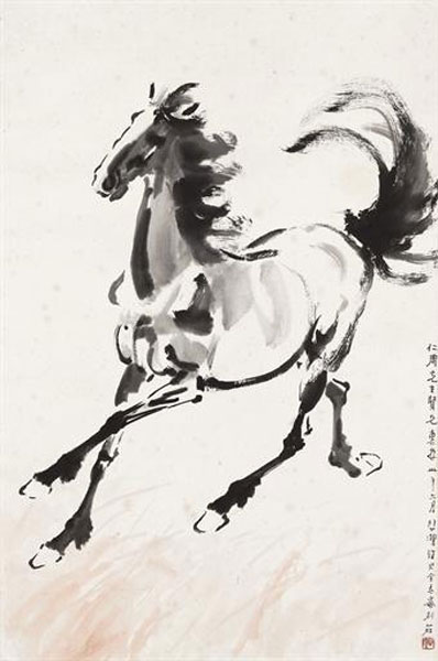 Xu Beihong, Running Horse - The Culturium