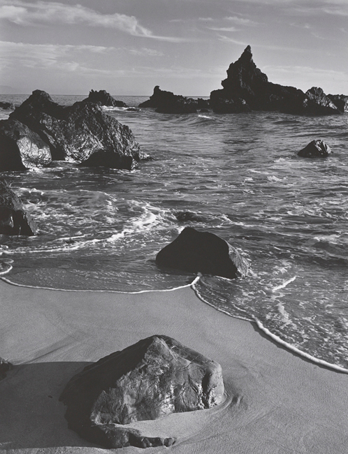 Ansel Adams, Surf and Rock, Monterey County Coast, 1951 - The Culturium